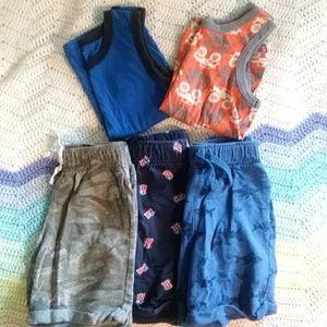 Lot of Boys tank tops & shorts